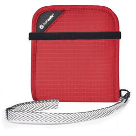 Pacsafe RFIDsafe V100 Bi-Fold Wallet goji berry